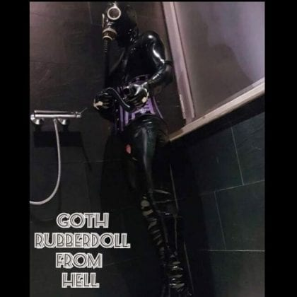Goth Rubberdoll From Hell (6)